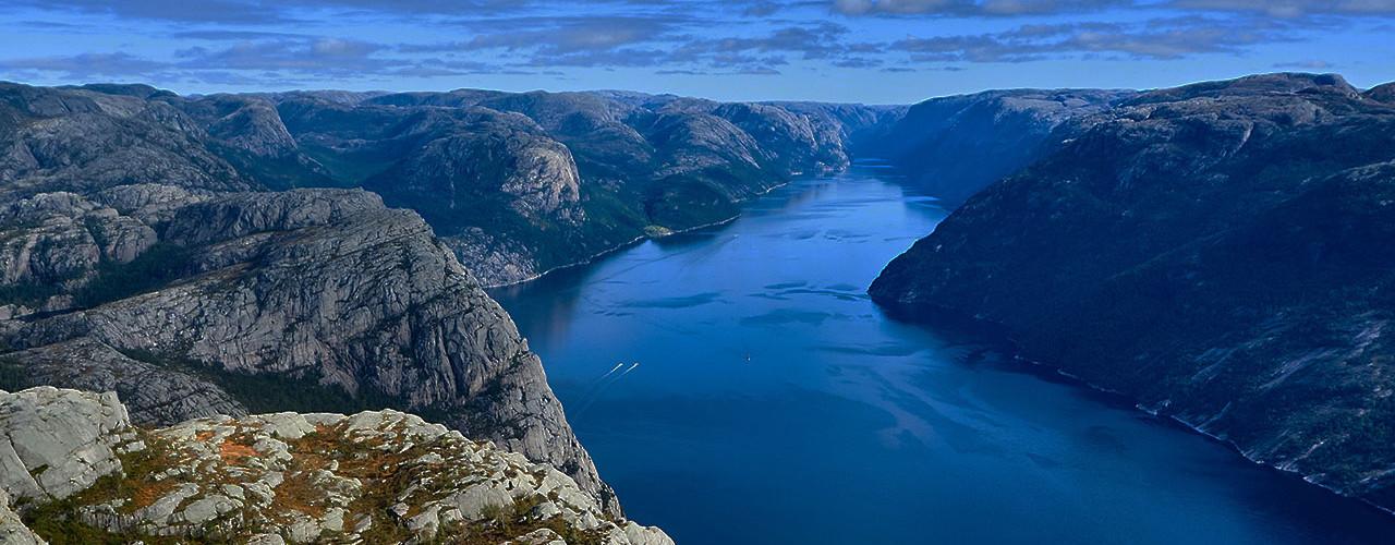 A rocky fjord landscape